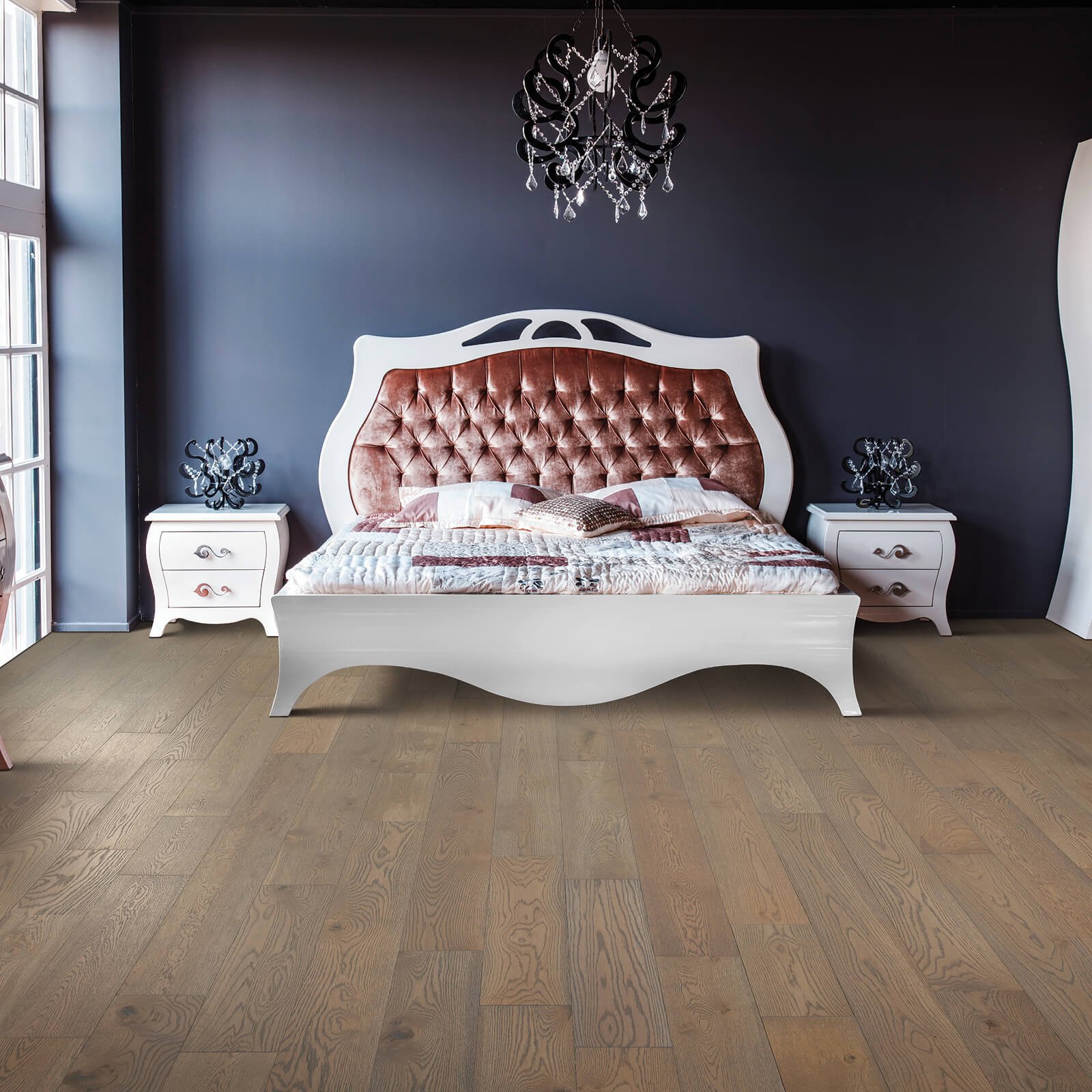Blue colorwall of bedroom | Great Floors