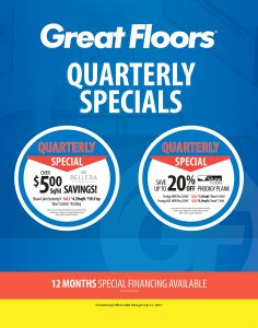 Quarterly specials | Great Floors