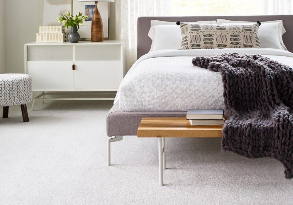 White carpet in bedroom | Great Floors